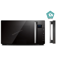 MIDEA MICROWAVE OVEN23L FLATBED BLK GLASS DOOR