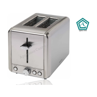 SHEFFIELD PL842 - 2 SLICE STAINLESS STEEL TOASTER